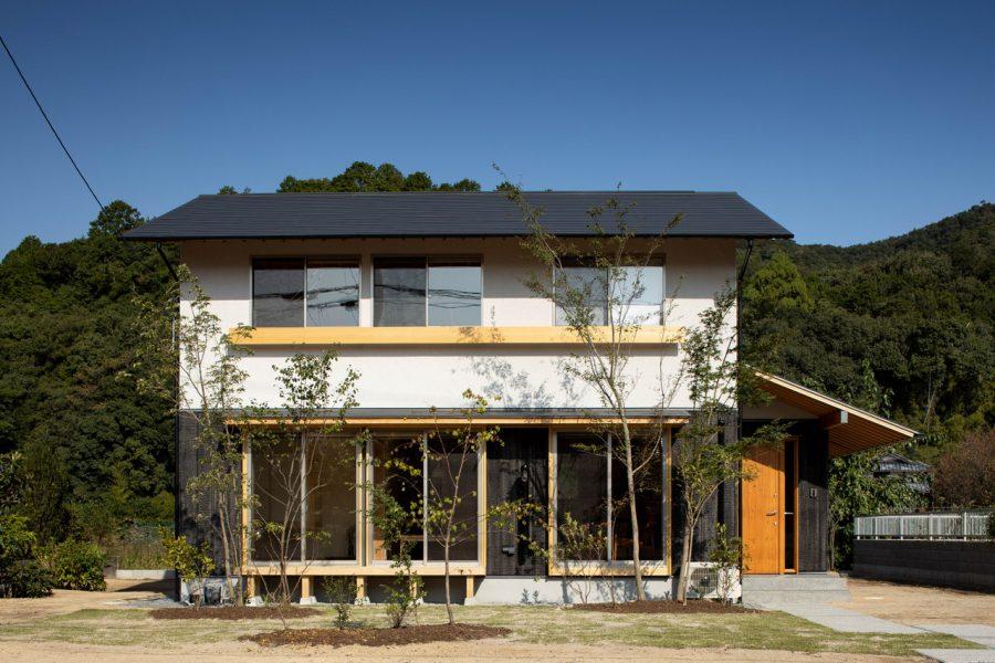 緑豊かな家