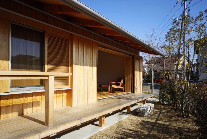 完成見学会 玉野の家~広いウッドデッキのある平屋~
